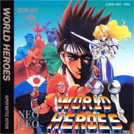 Box cover for World Heroes on the SNK Neo-Geo CD.