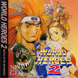 Box cover for World Heroes 2 JET on the SNK Neo-Geo CD.