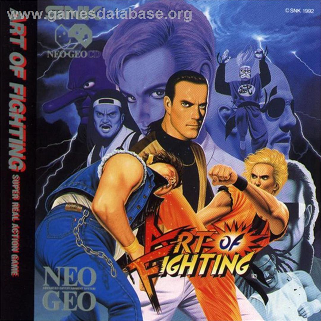 Box cover for Art of Fighting on the SNK Neo-Geo CD.