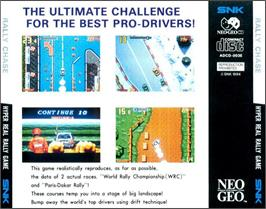 Box back cover for Rally Chase on the SNK Neo-Geo CD.