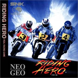 Box back cover for Riding Hero on the SNK Neo-Geo CD.