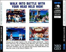 Box back cover for The King of Fighters '94 on the SNK Neo-Geo CD.