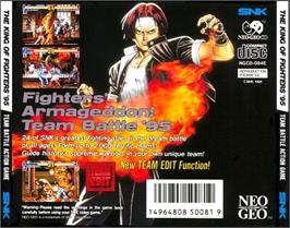 Box back cover for The King of Fighters '95 on the SNK Neo-Geo CD.