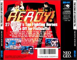 Box back cover for The King of Fighters '96 on the SNK Neo-Geo CD.