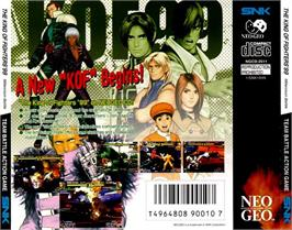 Box back cover for The King of Fighters '99: Millennium Battle on the SNK Neo-Geo CD.