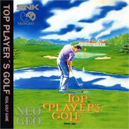 Box back cover for Top Player's Golf on the SNK Neo-Geo CD.