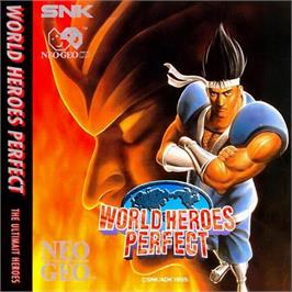 Box back cover for World Heroes Perfect: The Ultimate Heroes on the SNK Neo-Geo CD.