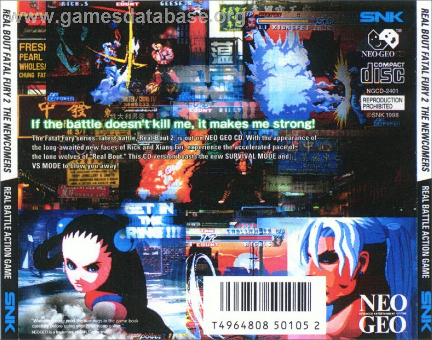 cover for Real Bout Fatal Fury 2: The Newcomers on the SNK Neo-Geo CD