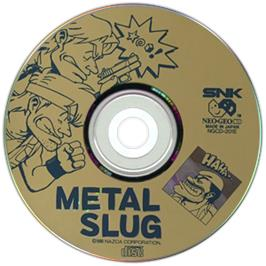 Artwork on the CD for Metal Slug: Super Vehicle-001 on the SNK Neo-Geo CD.