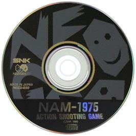 Artwork on the CD for NAM-1975 on the SNK Neo-Geo CD.