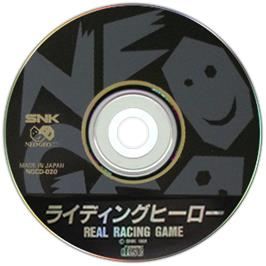 Artwork on the CD for Riding Hero on the SNK Neo-Geo CD.