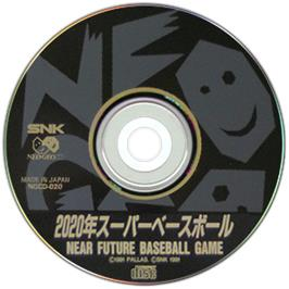 Artwork on the CD for Super Baseball 2020 on the SNK Neo-Geo CD.