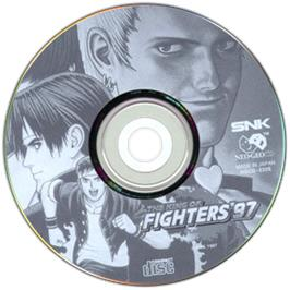 Artwork on the CD for The King of Fighters '97 on the SNK Neo-Geo CD.