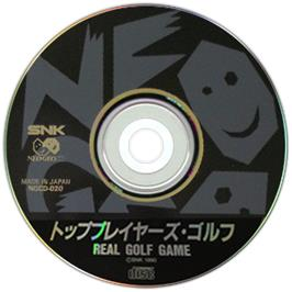 Artwork on the CD for Top Player's Golf on the SNK Neo-Geo CD.