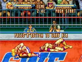In game image of 3 Count Bout on the SNK Neo-Geo CD.