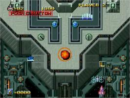 In game image of Alpha Mission II on the SNK Neo-Geo CD.