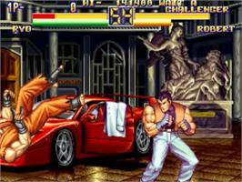 In game image of Art of Fighting 2 on the SNK Neo-Geo CD.