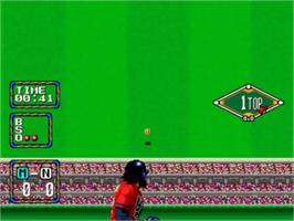 In game image of Baseball Stars 2 on the SNK Neo-Geo CD.
