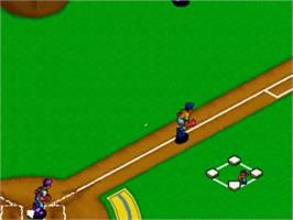 In game image of Baseball Stars Professional on the SNK Neo-Geo CD.