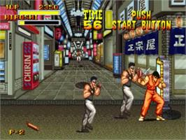 In game image of Burning Fight on the SNK Neo-Geo CD.
