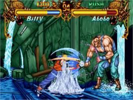 In game image of Double Dragon on the SNK Neo-Geo CD.