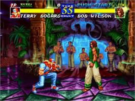 In game image of Fatal Fury 3: Road to the Final Victory! on the SNK Neo-Geo CD.