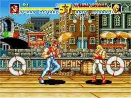 In game image of Fatal Fury Special on the SNK Neo-Geo CD.