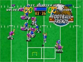 In game image of Football Frenzy on the SNK Neo-Geo CD.