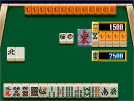 In game image of Idol Mahjong Final Romance 2 on the SNK Neo-Geo CD.