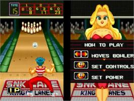 In game image of League Bowling on the SNK Neo-Geo CD.