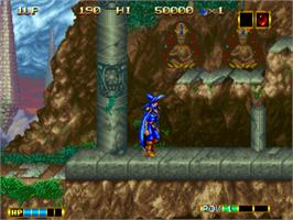 In game image of Magician Lord on the SNK Neo-Geo CD.