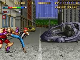 In game image of Mutation Nation on the SNK Neo-Geo CD.