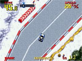 In game image of Rally Chase on the SNK Neo-Geo CD.