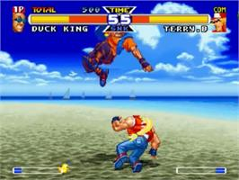 In game image of Real Bout Fatal Fury Special on the SNK Neo-Geo CD.