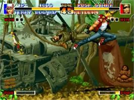 In game image of The King of Fighters '94 on the SNK Neo-Geo CD.