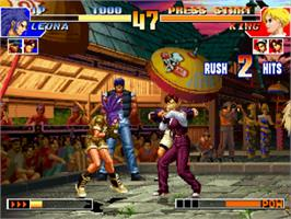 In game image of The King of Fighters '97 on the SNK Neo-Geo CD.