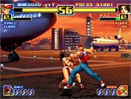 In game image of The King of Fighters '99: Millennium Battle on the SNK Neo-Geo CD.