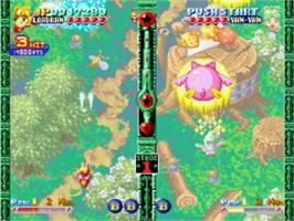 In game image of Twinkle Star Sprites on the SNK Neo-Geo CD.