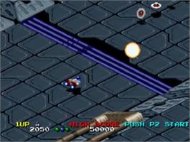 In game image of Viewpoint on the SNK Neo-Geo CD.