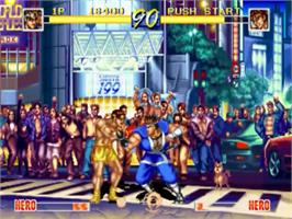 In game image of World Heroes Perfect: The Ultimate Heroes on the SNK Neo-Geo CD.