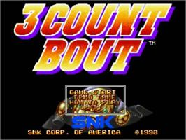Title screen of 3 Count Bout on the SNK Neo-Geo CD.