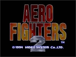 Title screen of Aero Fighters 2 on the SNK Neo-Geo CD.