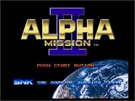 Title screen of Alpha Mission II on the SNK Neo-Geo CD.