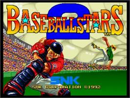 Title screen of Baseball Stars 2 on the SNK Neo-Geo CD.
