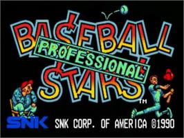 Title screen of Baseball Stars Professional on the SNK Neo-Geo CD.