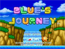 Title screen of Blue's Journey on the SNK Neo-Geo CD.