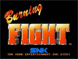 Title screen of Burning Fight on the SNK Neo-Geo CD.