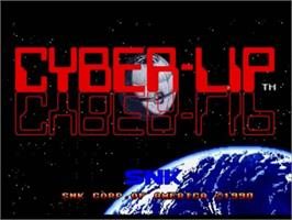 Title screen of Cyber-Lip on the SNK Neo-Geo CD.
