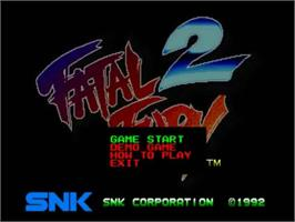 Title screen of Fatal Fury 2 on the SNK Neo-Geo CD.