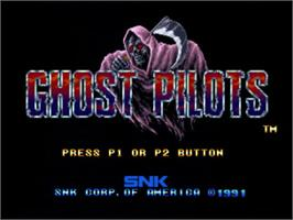 Title screen of Ghost Pilots on the SNK Neo-Geo CD.